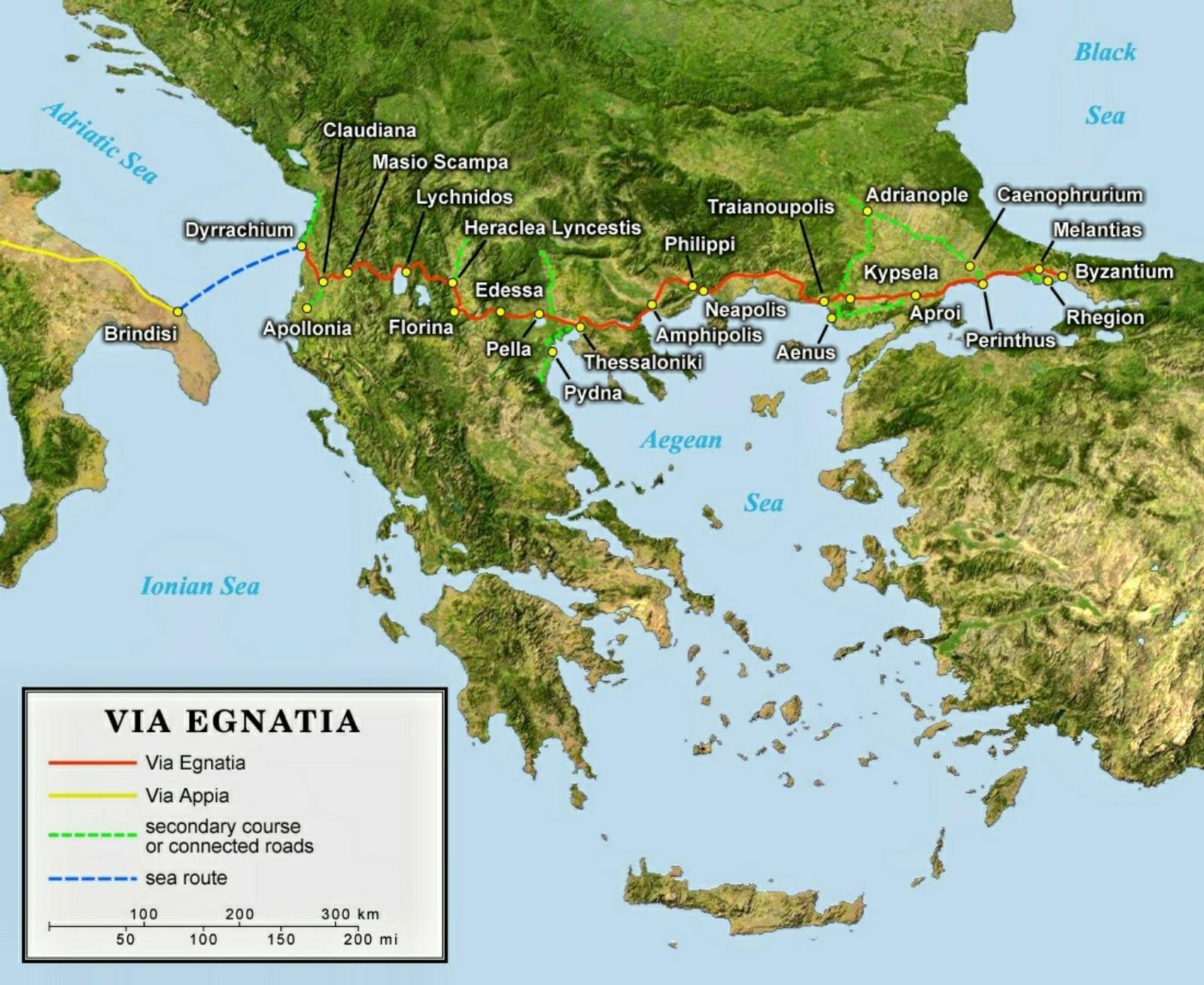 Via Egnatia map