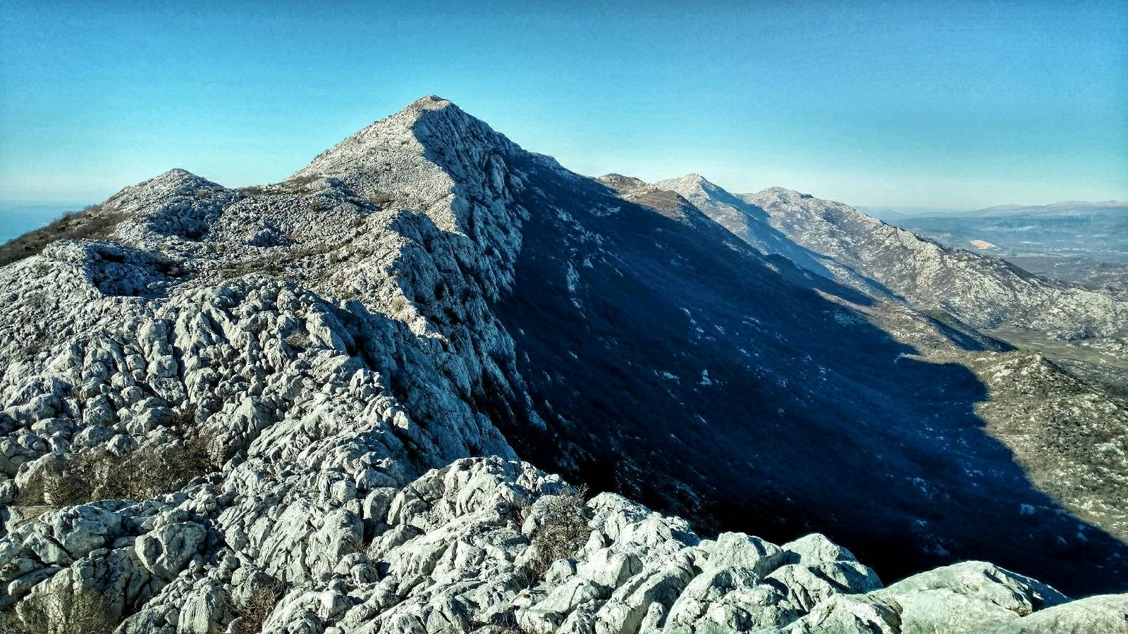 Rocky ridge to Kozik peak, Mosor