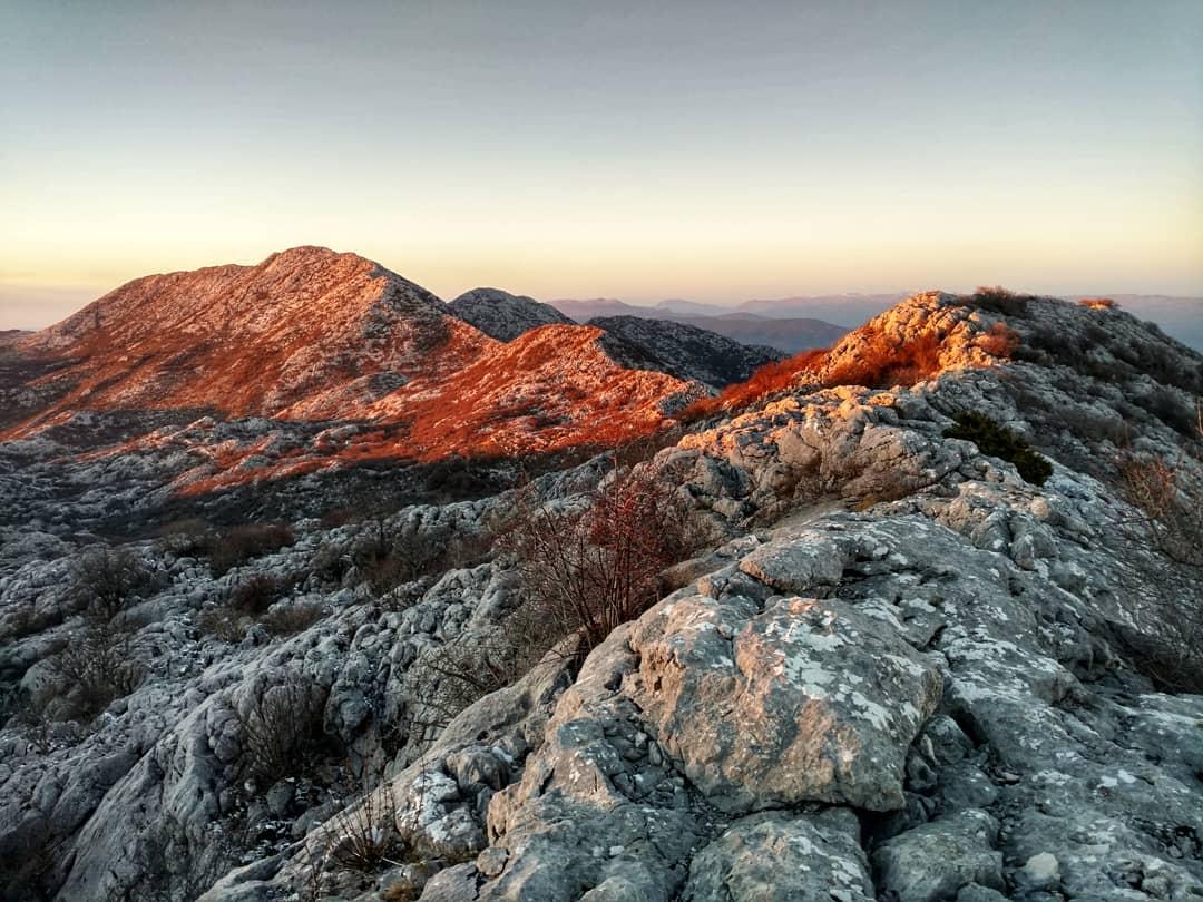 Sunset on Mosor Mountain