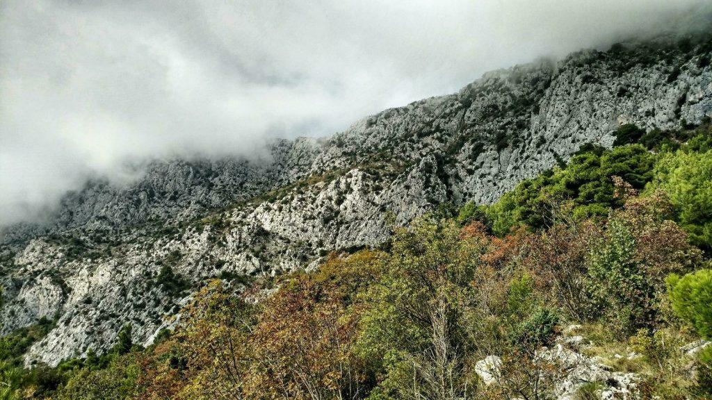 Biokovo Hiking Trail is behind that wall