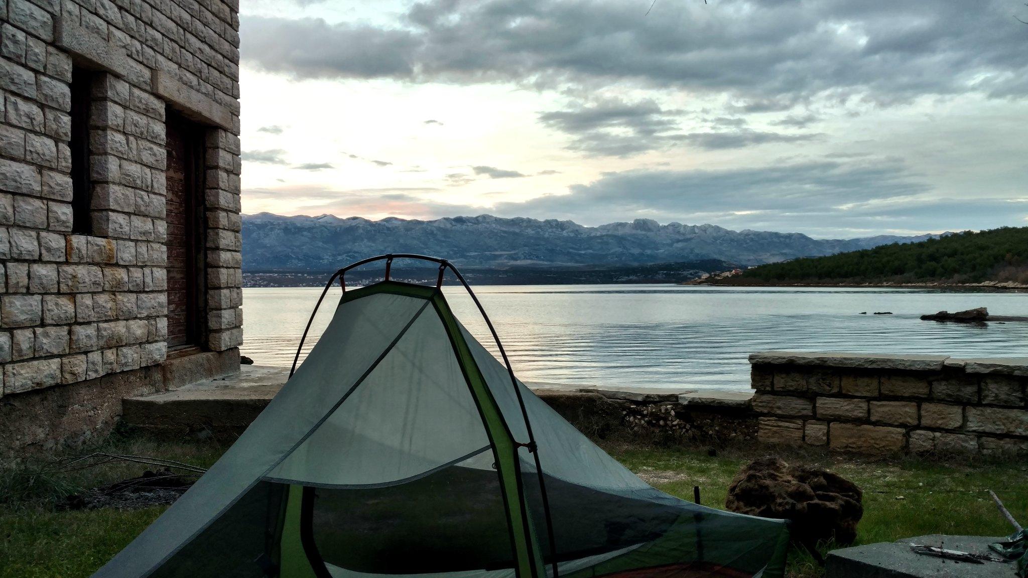 Stealth camp at the beach