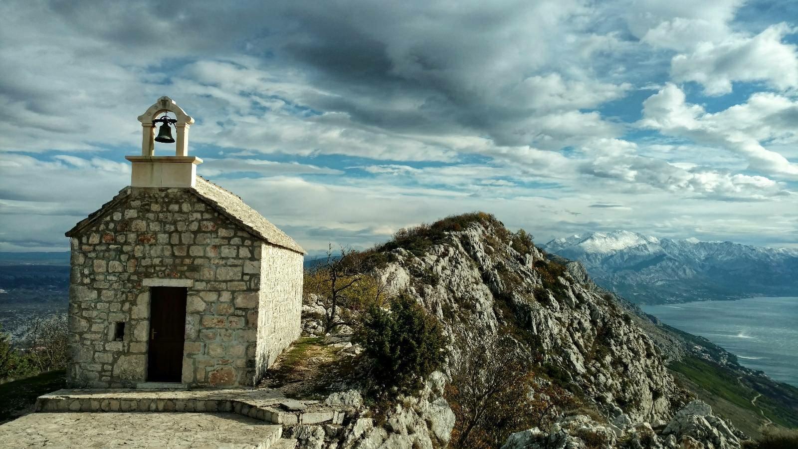 View on Biokovo from Omiška Dinara mountain