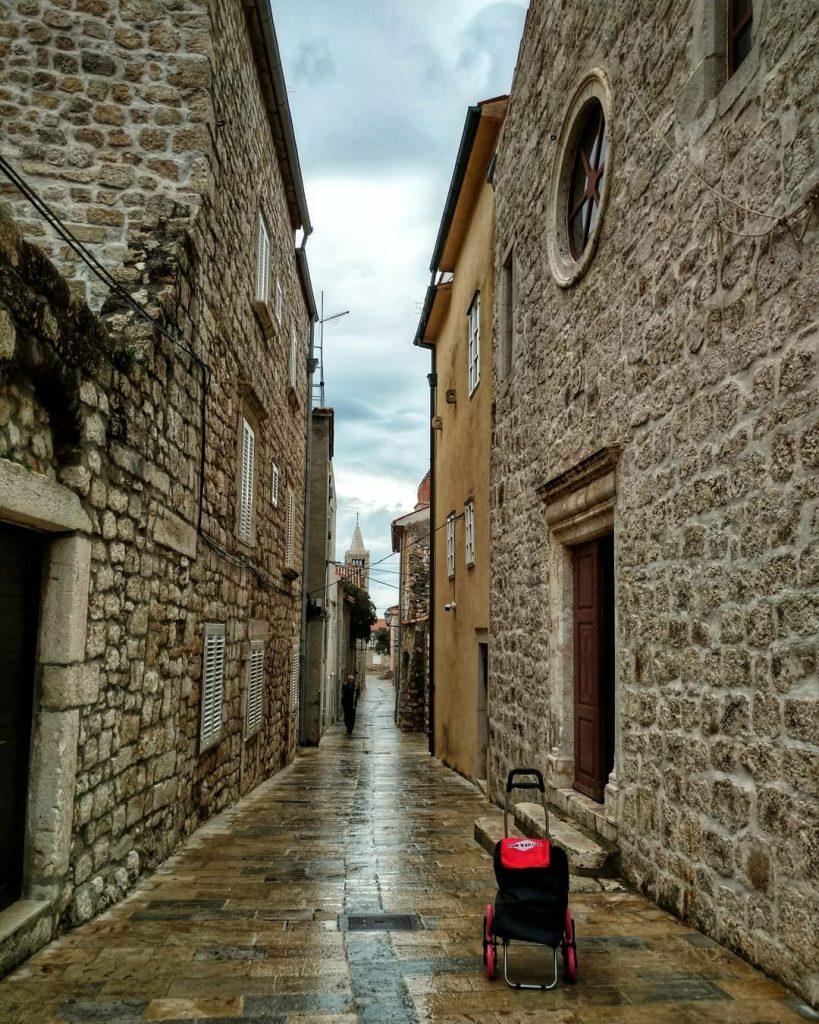 RAb old town on the Island of Rab, Croatia