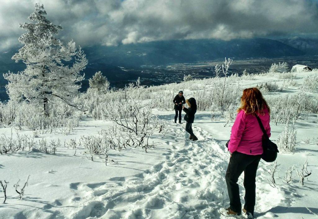 Girls that hike Bosnian mountains