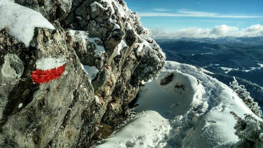 Hiking trail on Trebević