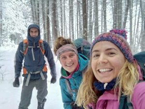 Hiking down to town | before we got snowed in