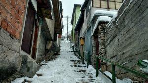 Steep streets from Sarajevo