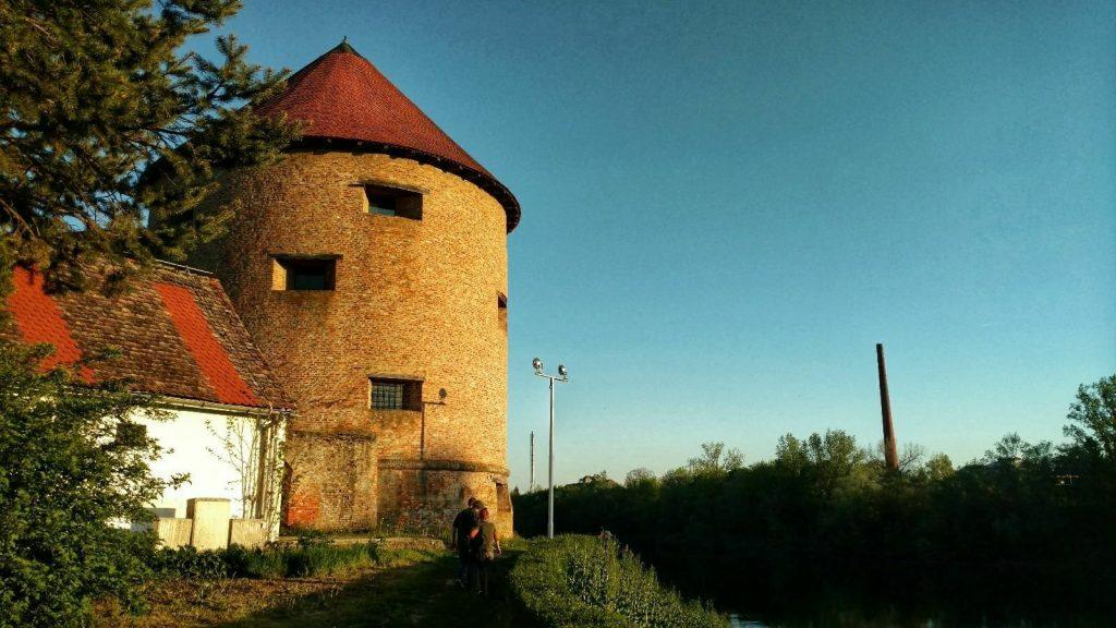 Fortress near Sisak   Biking from Zagreb to Sarajevo