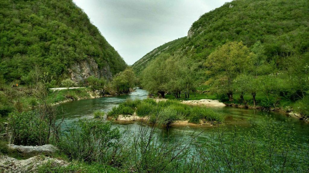 Riding along the River Sana