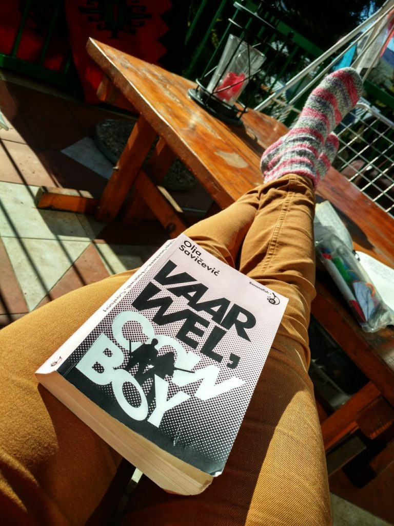 House sitting in Mavrovo   Reading books: Vaarwel Cowboy