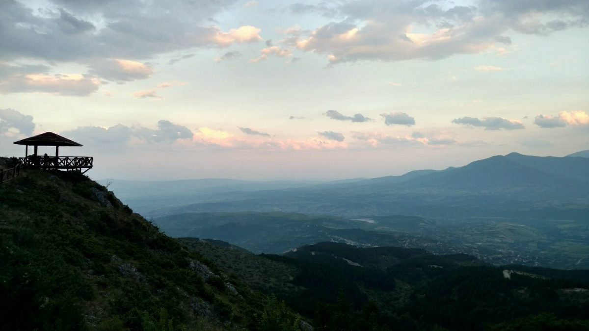 Macedonian mountains, view from Vodno